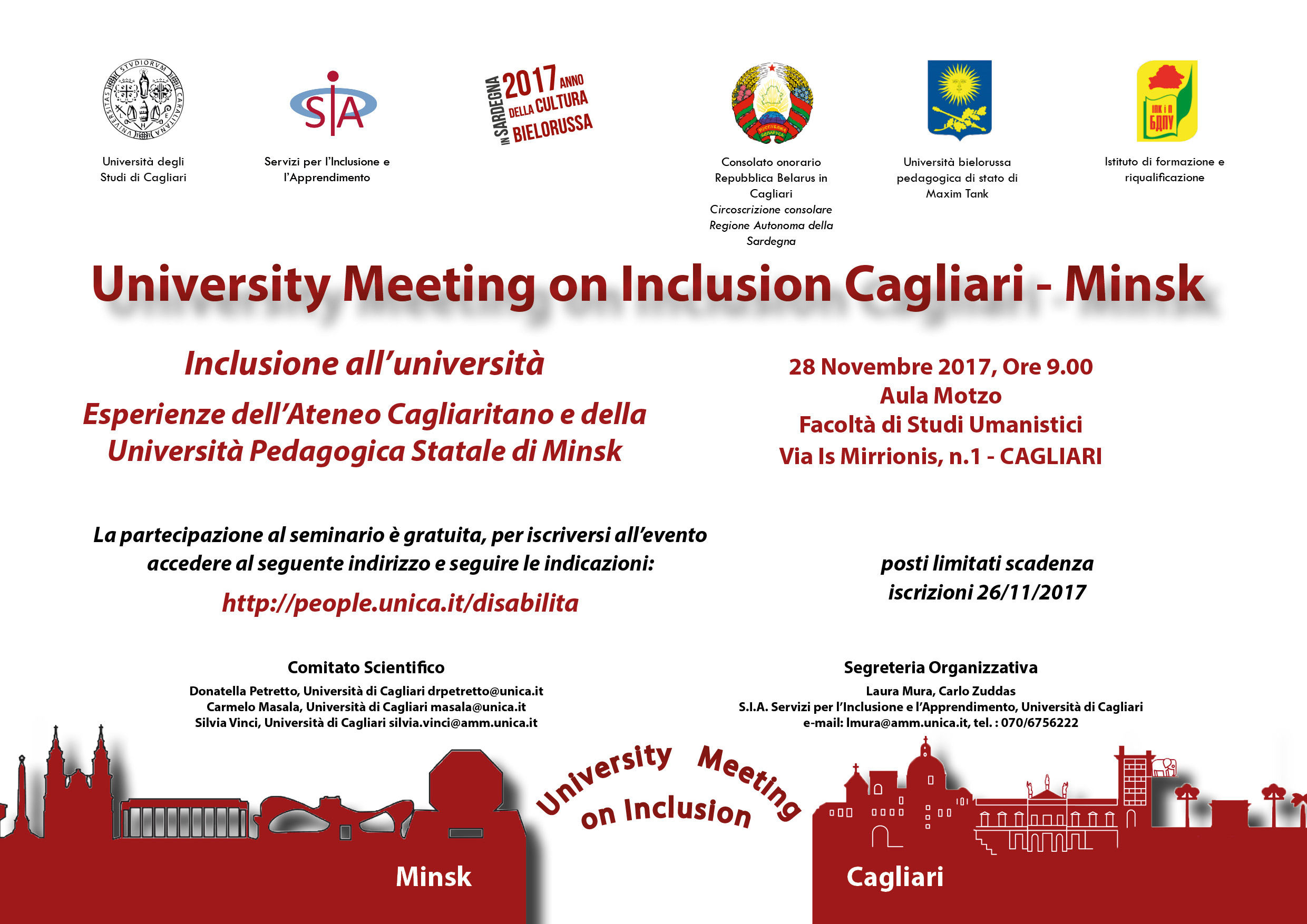 Seminario University Meeting on Inclusion, Cagliari - Minsk - 28 Novembre 2017