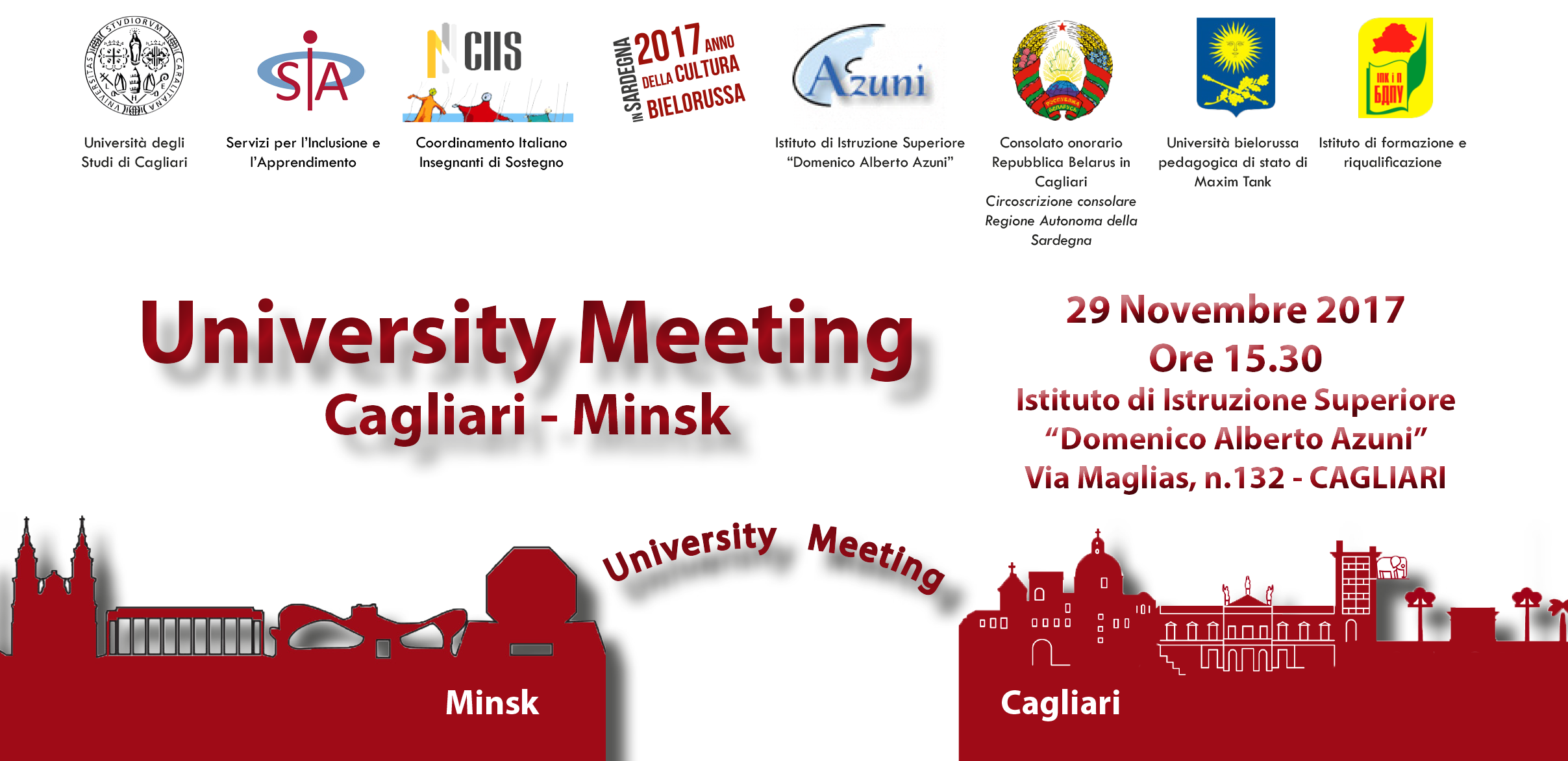 Seminario University Meeting on Inclusion, Cagliari - Minsk - 29 Novembre 2017