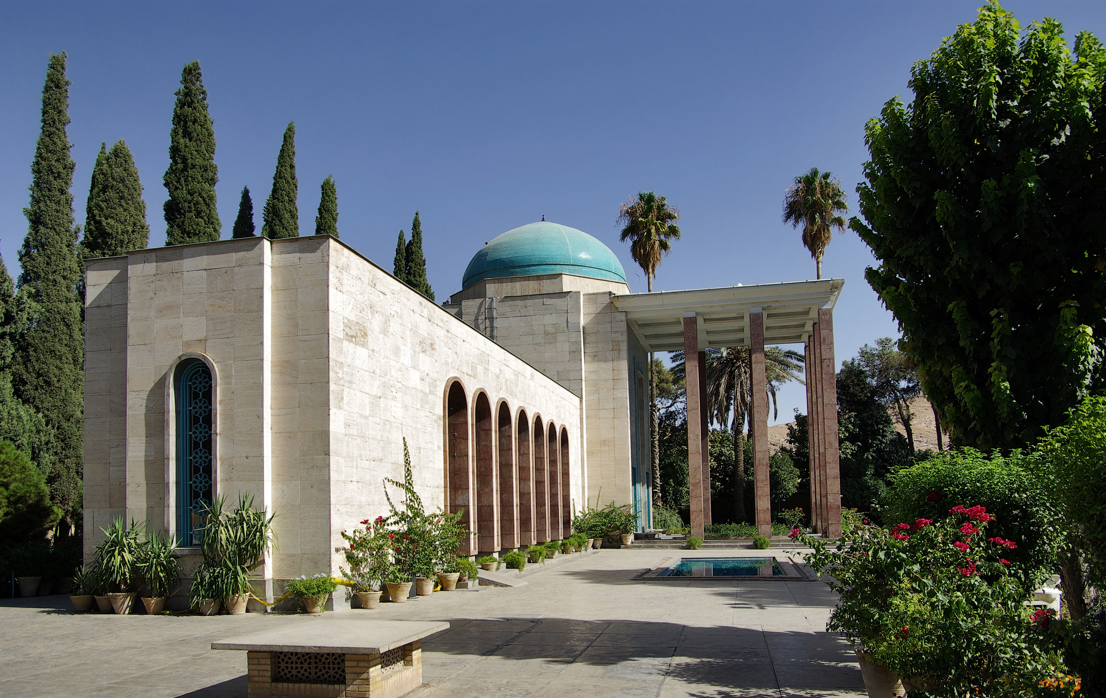 Saadi tomb, Shiraz by Mansour Ahmadi